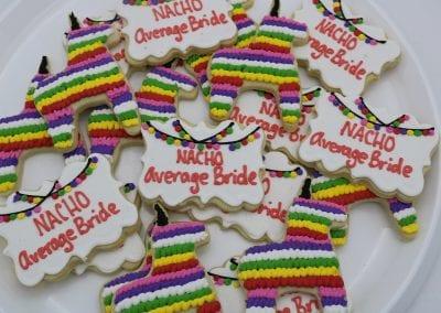Nacho Average Bride Cookies | 3 Sweet Girls Cakery