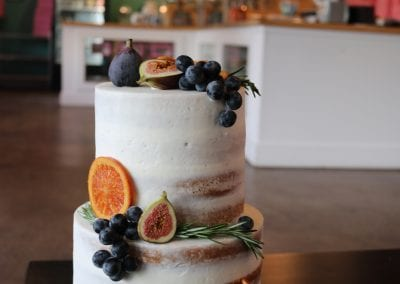 Naked 2 Tier Cake with Fall Fruits | 3 Sweet Girls Cakery