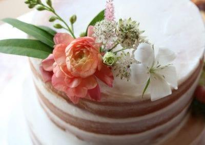 Naked Wedding Cake | 3 Sweet Girls Cakery