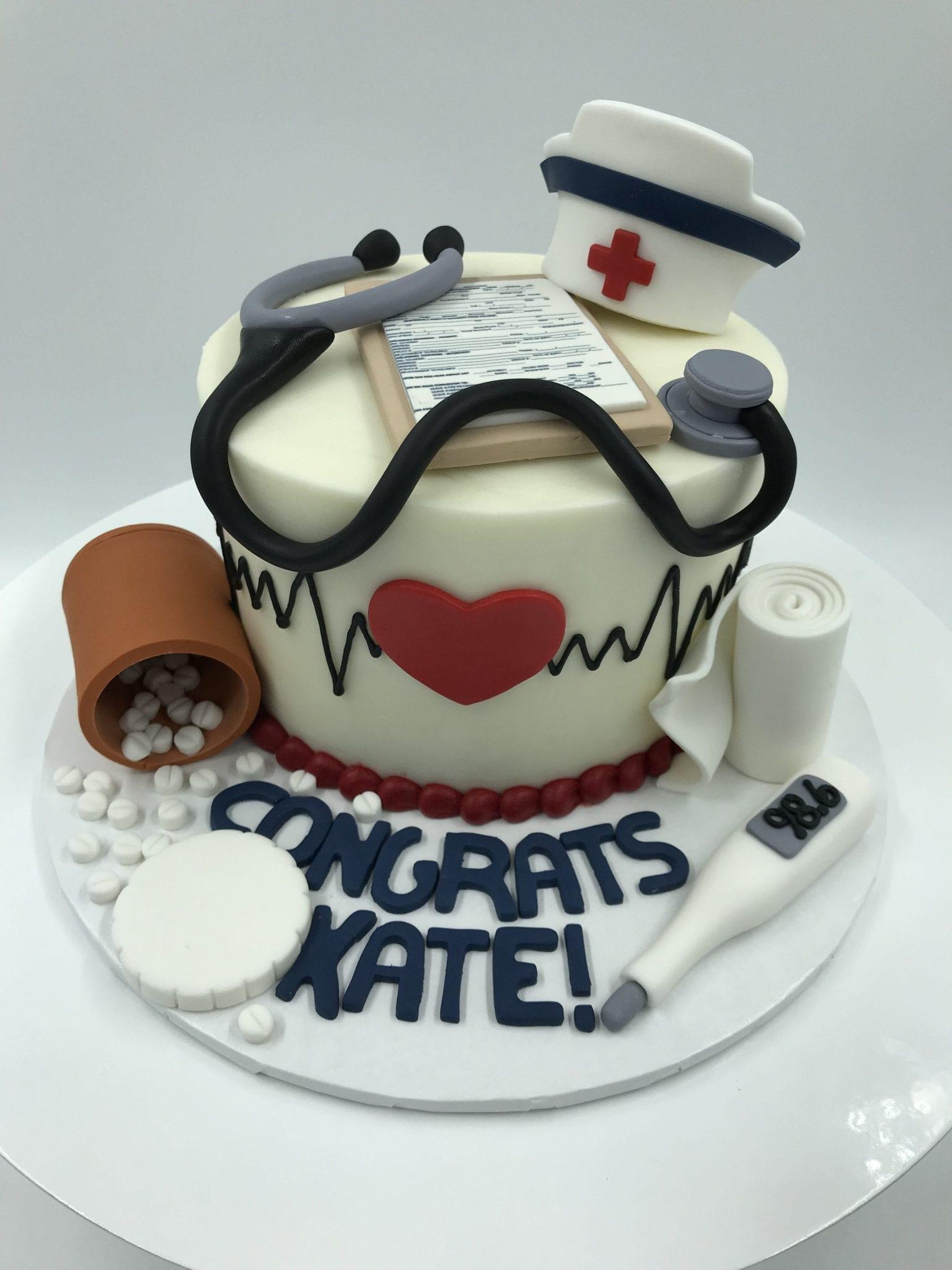 Nurse Graduation Cake | 3 Sweet Girls Cakery