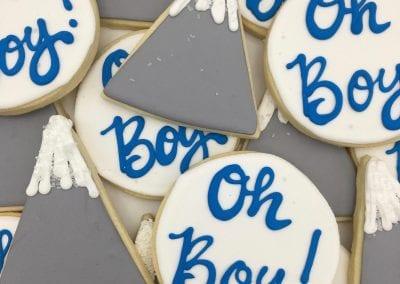 Oh Baby Boy Cookies | 3 Sweet Girls Cakery