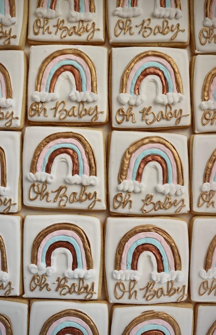 Oh Baby Rainbow Cookies | 3 Sweet Girls Cakery