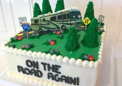 On the Road Again RV Cake | 3 Sweet Girls Cakery