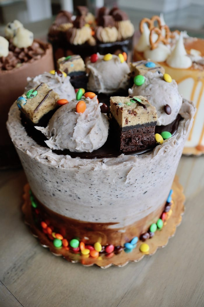 Oreo Brownie M & M Cake   3 Sweet Girls Cakery