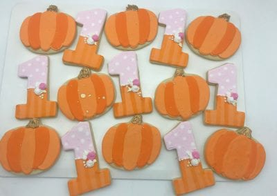 Our Pumpkin is Turing One Cookies | 3 Sweet Girls Cakery