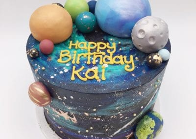 Outer Space Theme Birthday Cake | 3 Sweet Girls Cakery