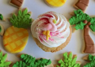 Palm Tree and Pineapple Cookies | 3 Sweet Girls Cakery