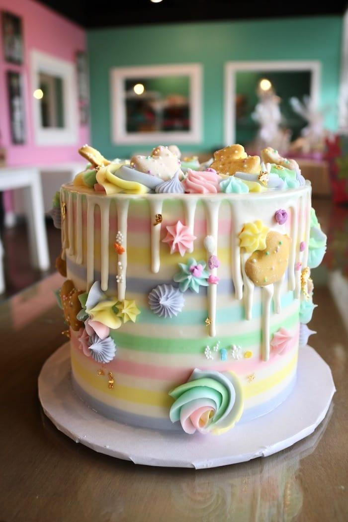 Pastel Animal Cookie Cake | 3 Sweet Girls Cakery