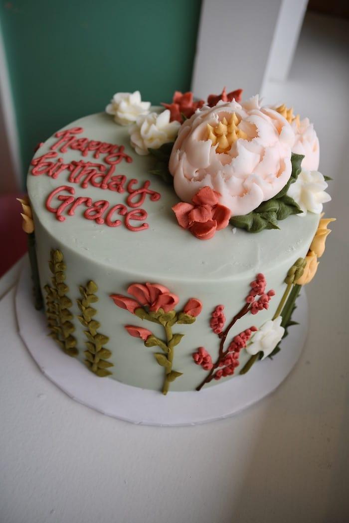 Pastel Floral Birthday Cake | 3 Sweet Girls cakery