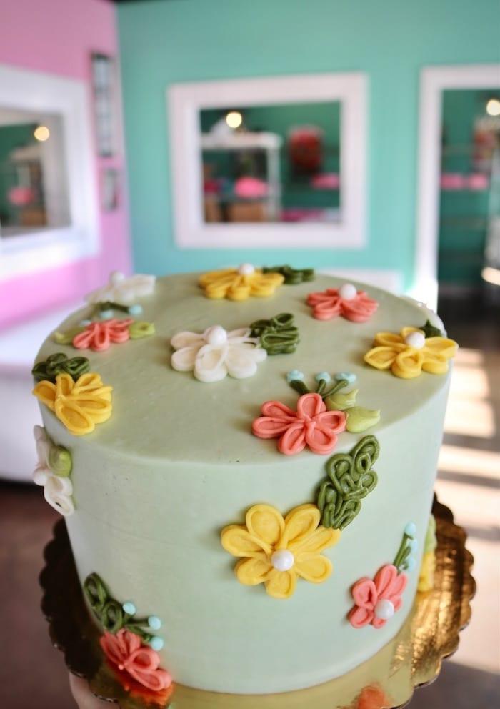 Pastel Flower Cake   3 Sweet Girls Cakery