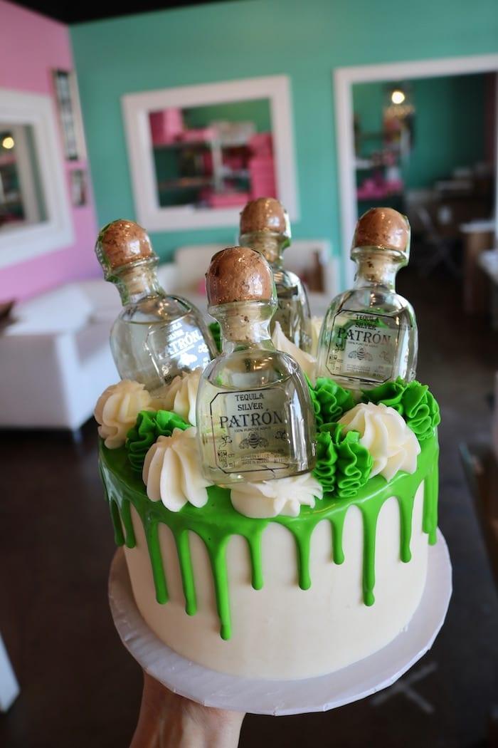 Patron Tequila Drip Cake   3 Sweet Girls Cakery