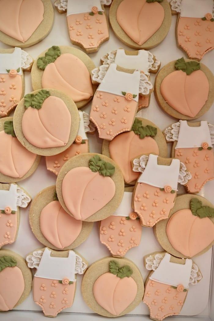 Peach Baby Cookies | 3 sweet Girls Cakery