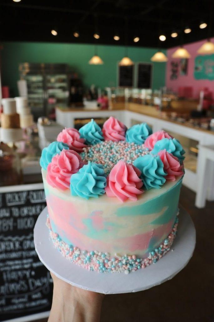 Pink & Blue Gender Reveal Cake | 3 Sweet Girls Cakery