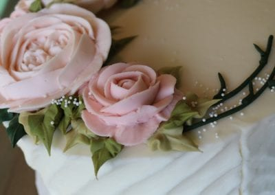 Pink Buttercream Flowers Cake | 3 Sweet Girls Cakery