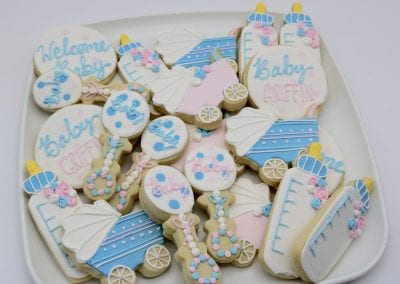 Pink and Blue Baby Shower Cookies | 3 Sweet Girls Cakery