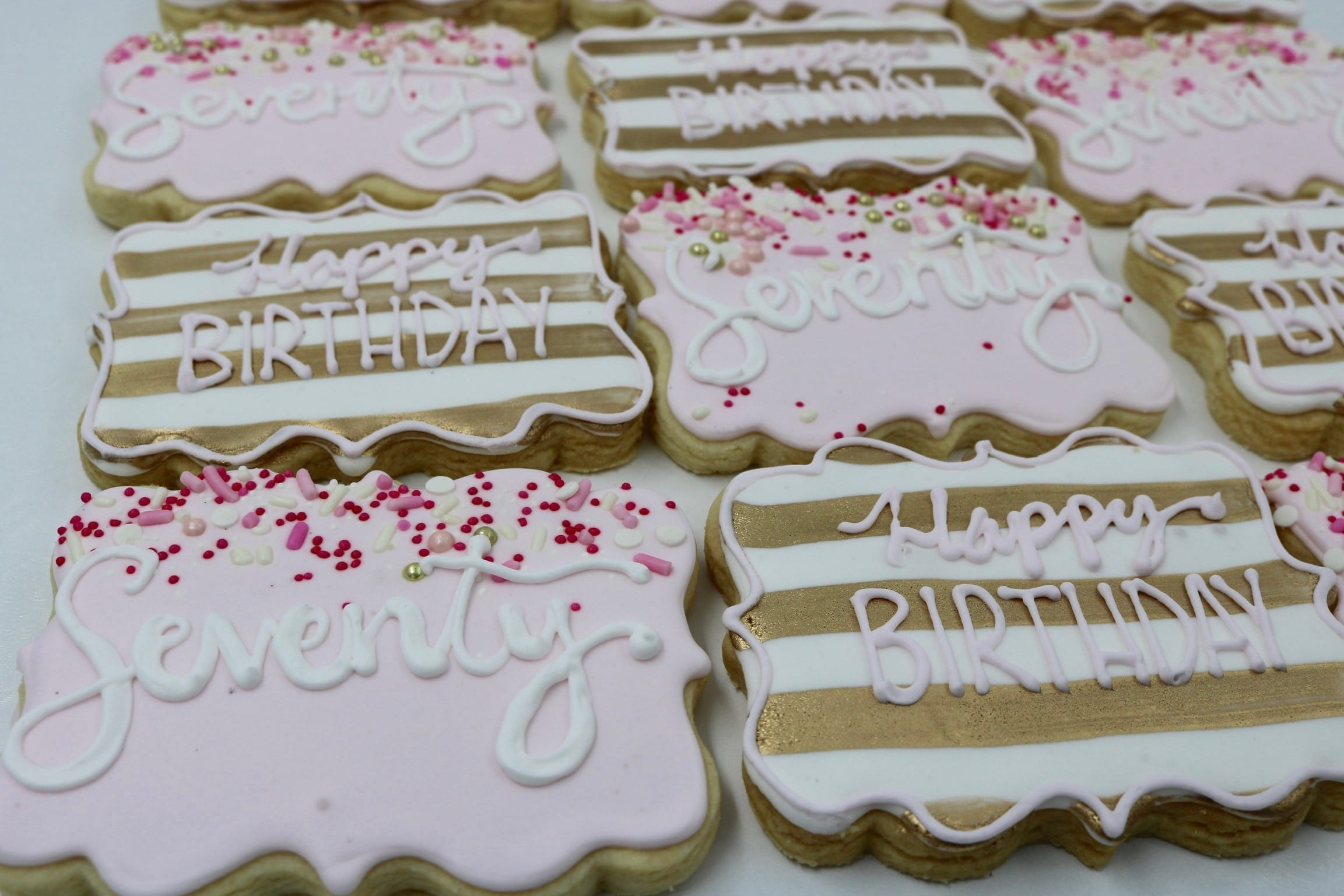 Pink and Gold Birthday Cookies | 3 Sweet Girls Cakery