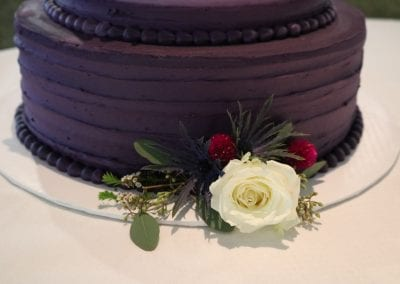 Plum Wedding Cake | 3 Sweet Girls Cakery