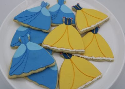 Princess Dress Cookies | 3 Sweet Girls Cakery