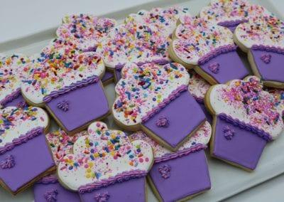 Purple Cupcake Cookies | 3 Sweet Girls Cakery