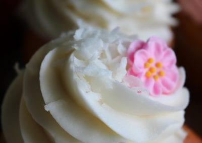 Raspberry Coconut Cupcakes | 3 Sweet Girls Cakery