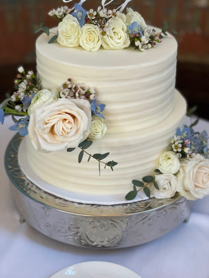 Rustic Textured Buttercream Wedding Cake | 3 Sweet Girls Cakery