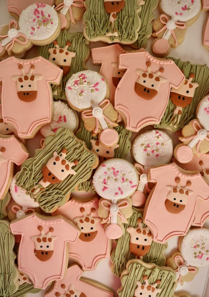 Safari Animal Baby Cookies | 3 Sweet Girls Cakery