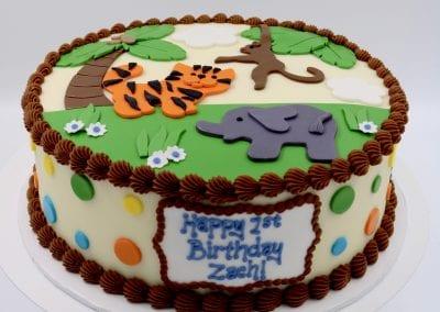 Safari Animal Birthday Cake | 3 Sweet Girls Cakery