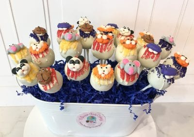 Safari Animal Cake Pops | 3 Sweet Girls Cakery
