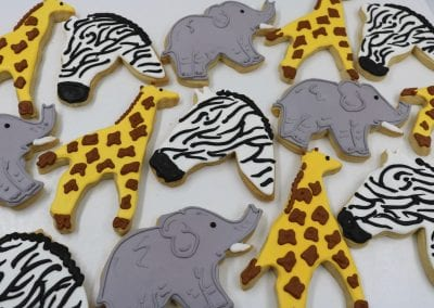 Safari Animal Cookies | 3 Sweet Girls Cakery