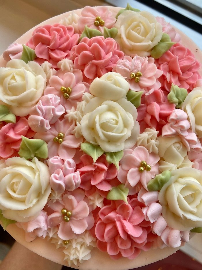 Shades of Pink Floral Cake | 3 Sweet Girls Cakery