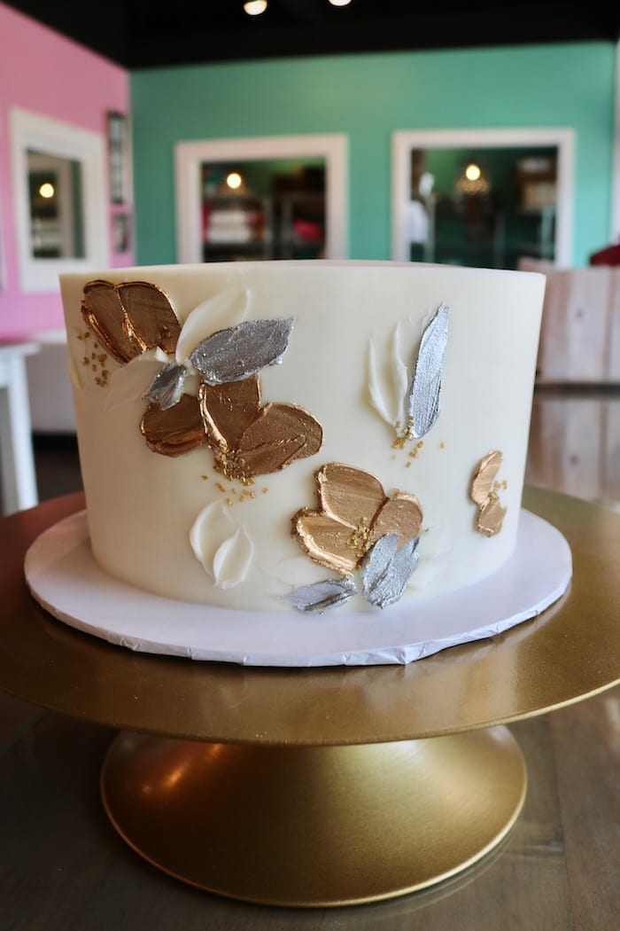 Silver and Gold Anniversary Cake | 3 Sweet Girls Cakery