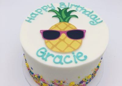 Sprinkle Cake with Pineapple | 3 Sweet Girls Cakery