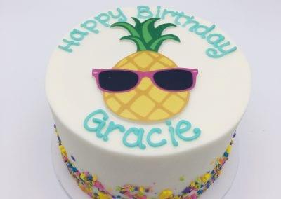 Sprinkle Cake with Pineapple | 3 Sweet Girls Cakery