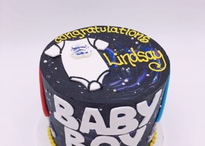 Star Wars Baby Shower Cake   3 Sweet Girls Cakery