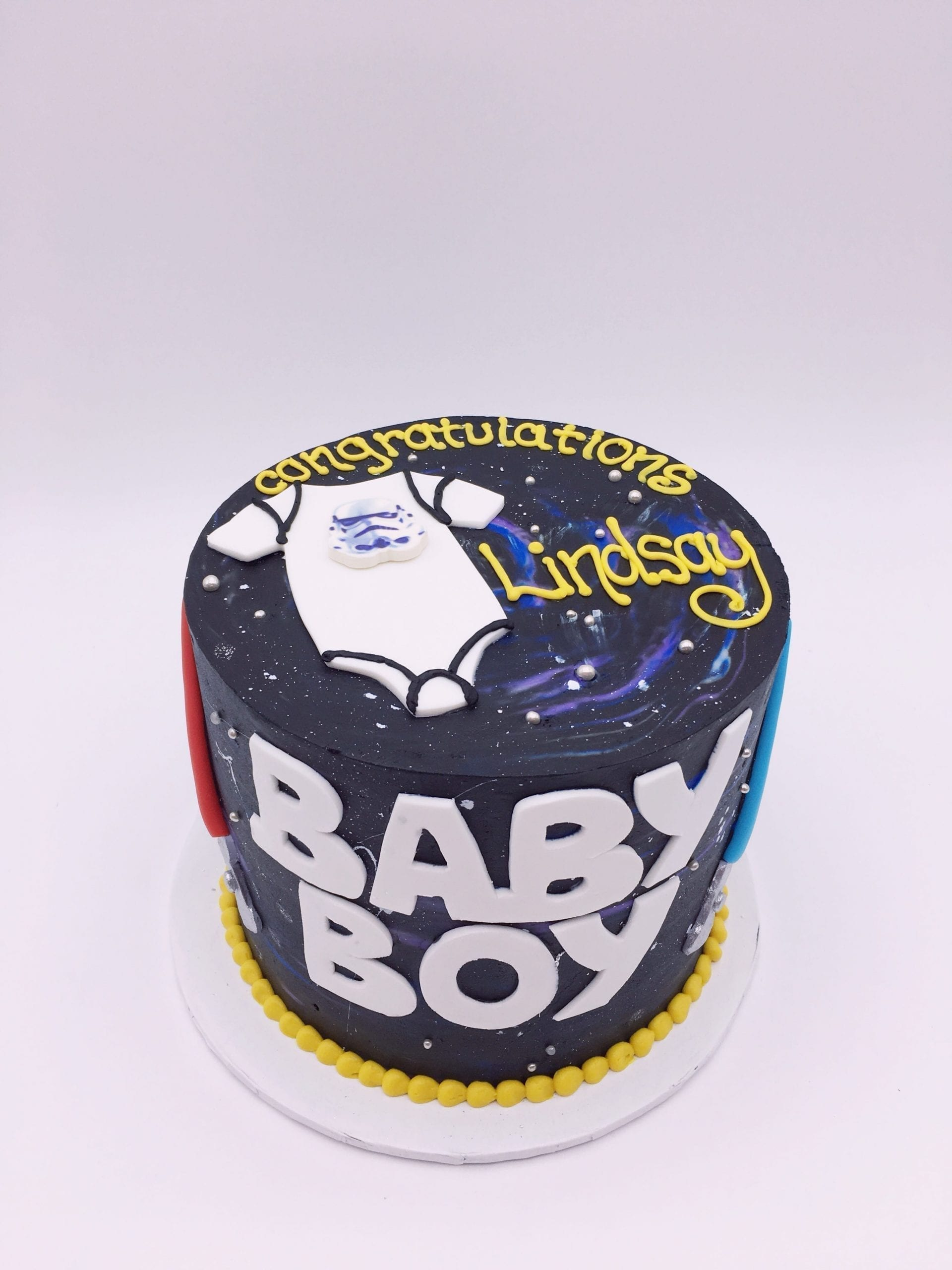 Star Wars Baby Shower Cake | 3 Sweet Girls Cakery