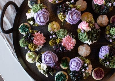 Succulent Cupcakes | 3 Sweet Girls Cakery