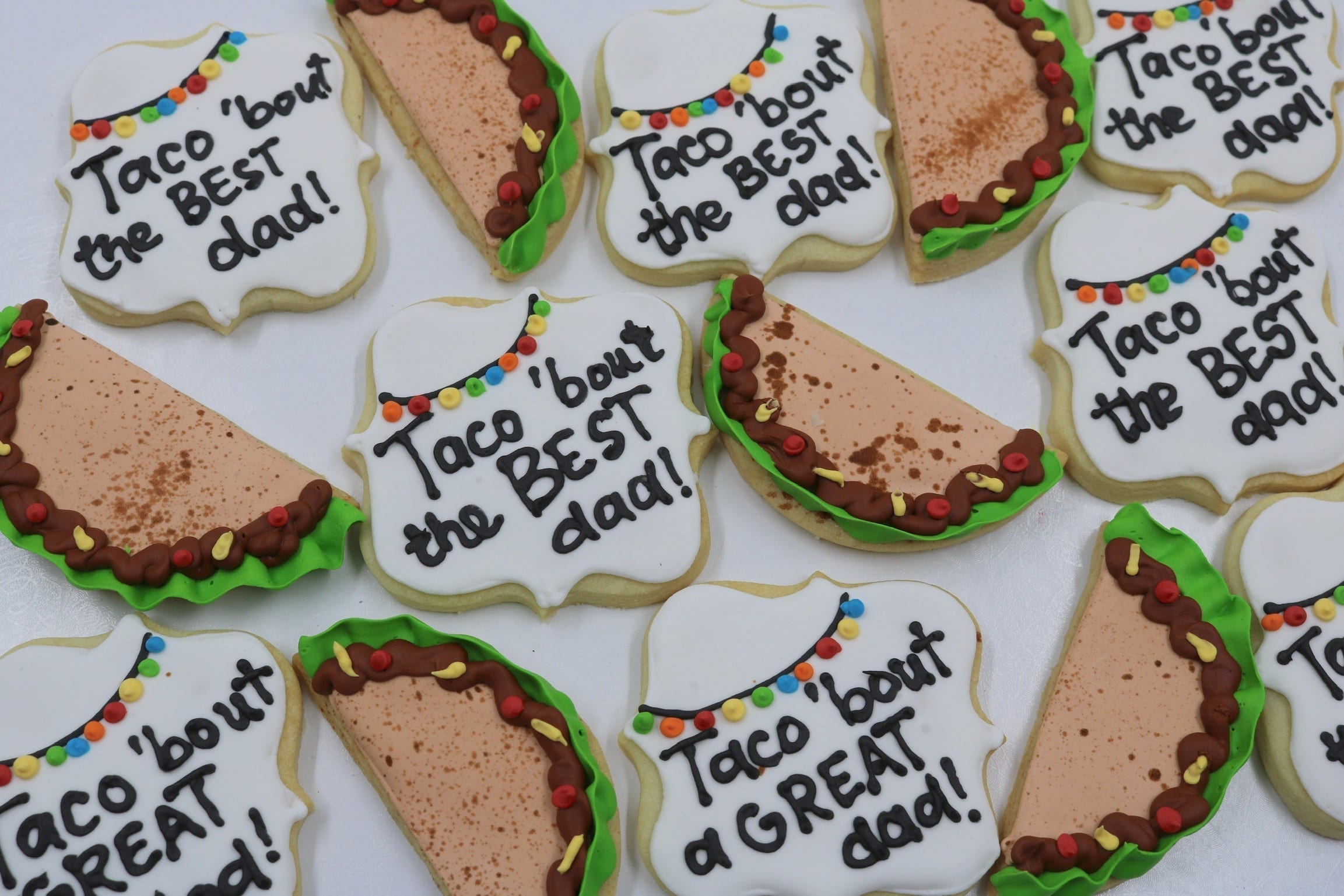 Taco Bout The Best Dad Cookies for Fathers Day| 3 Sweet Girls Cakery
