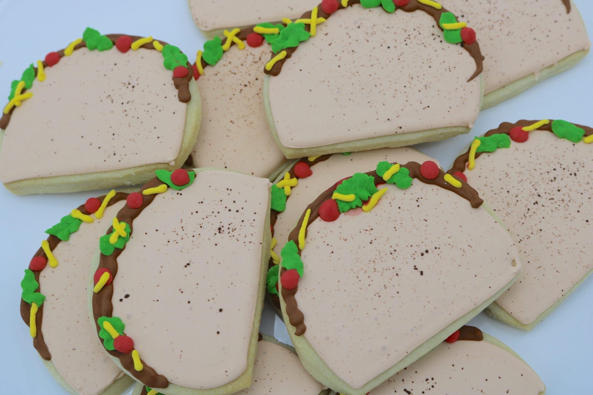 Taco Cookies | 3 Sweet Girls Cakery