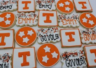 Tennessee Vols Graduation Cookies | 3 Sweet Girls Cakery