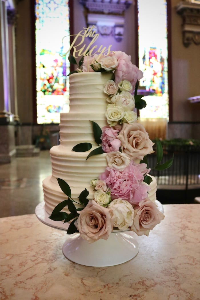 Textured Buttercream Wedding Cake | 3 Sweet Girls Cakery