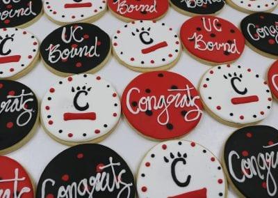 UC Bound Graduation Cookies | 3 Sweet Girls Cakery