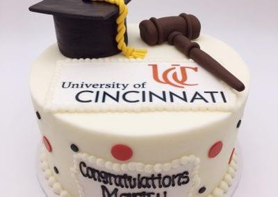 UC Criminal Justice Graduation Cake | 3 Sweet Girls Cakery