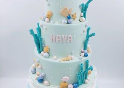 Under the Sea Mermaid Birthday Cake | 3 Sweet Girls Cakery