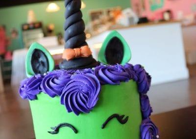 Unicorn Witch Halloween Cake   3 Sweet Girls Cakery