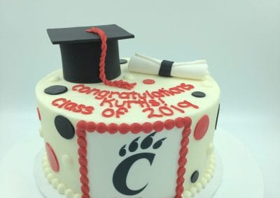 University of Cincinnati Graduation Cake | 3 Sweet Girls Cakery