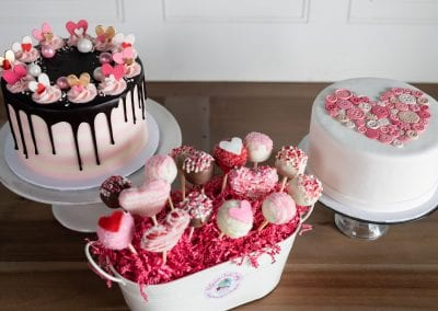 Valentine's Day Cakes and Cake Pops | 3 Sweet Girls Cakery