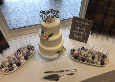 Wedding Cake and Cake Pops | 3 Sweet Girls Cakery
