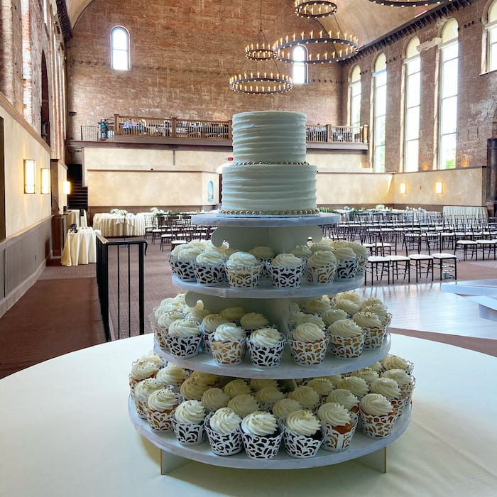 Wedding Cake and Cupcakes at The Monastery | 3 Sweet Girls Cakery