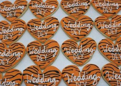 Wedding Dey Cookies for Bengals Fans | 3 Sweet Girls Cakery