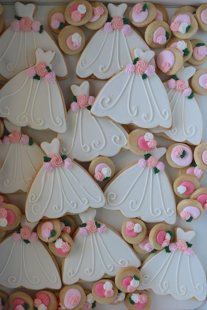 Wedding Dress Cookies | 3 Sweet Girls Cakery